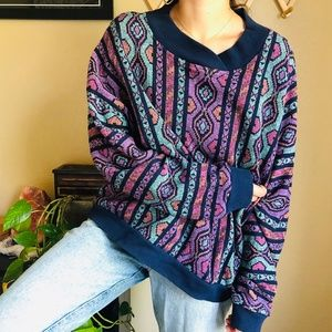⌈Vintage⌋ Neiman Marcus Abstract Sweater